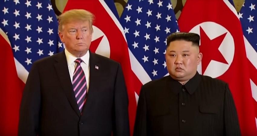 Donald Trump y Kim Jong Un en Hanoi