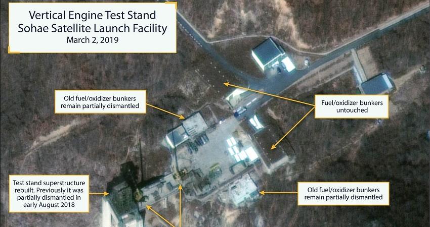 Corea del Norte esta reconstruyendo unas instalaciones para el lanzamiento de cohetes