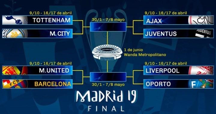 El Barça se medirá al Mancheter United en los cuartos de final de la Champions