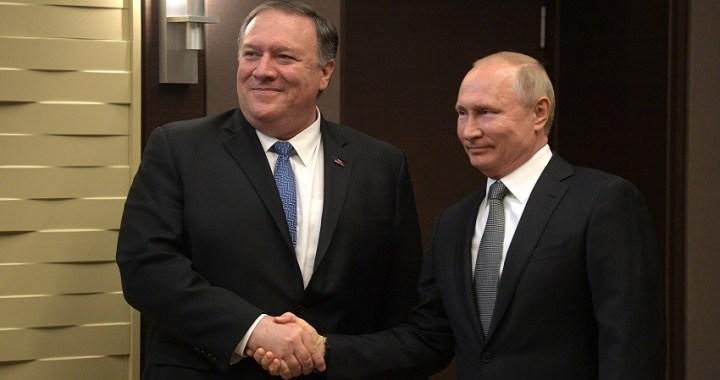 """Putin le dice a Pompeo que quiere """"restaurar"""" los lazos ruso-estadounidenses"""