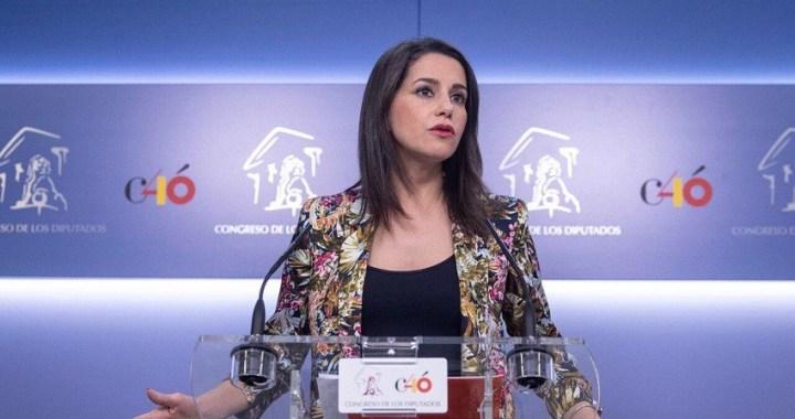 Arrimadas: 'Pedimos a Batet que no paralice el Congreso por los deseos de Sánchez y que convoque el pleno de investidura'