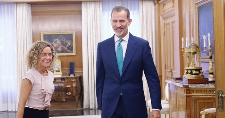 El Rey ha comunicado a la presidenta del Congreso su decisión de celebrar nuevas consultas los días 16 y 17 de septiembre