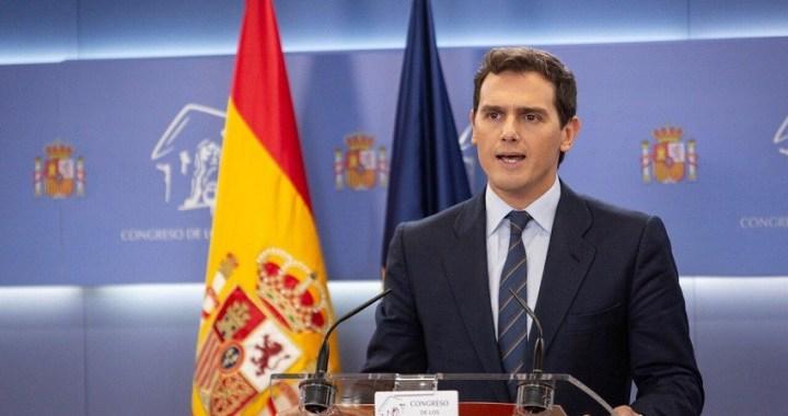 """Albert Ribera: """"Pido a Sánchez que garantice que no habrá privilegios para los políticos presos"""""""