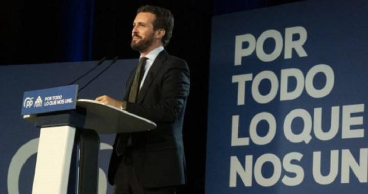 Casado afirma que España no aguanta una crisis más con los socialistas al frente