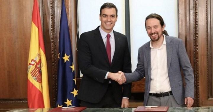 """Sánchez: """"Este es un programa de coalición progresista para que España avance sin dejar a nadie atrás"""""""