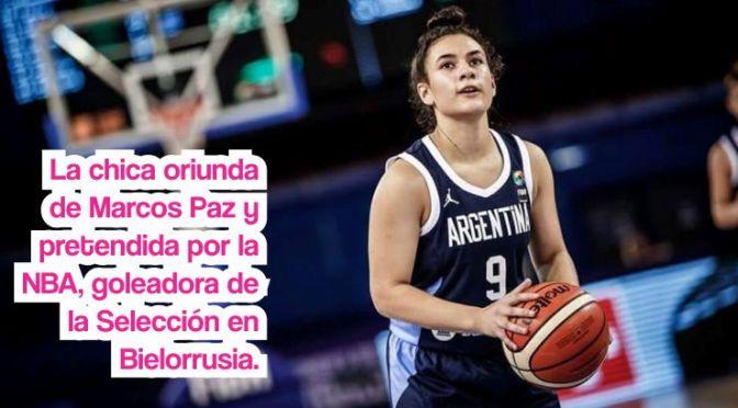 Sofía Acevedo superStar en el mundial de básquet sub 17, pequeña gigante