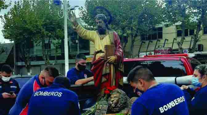 Aferrarse a la religión, en momentos difíciles: se cumplió otro aniversario del Santo Patrono de Marcos Paz, San Marcos Evangelista