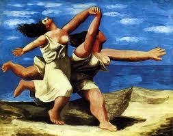 Mulheres correndo na praia - Picasso