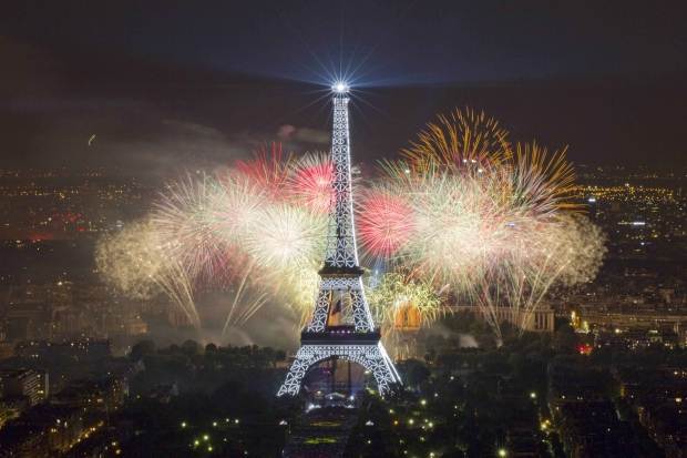 Comemoração no dia da Bastilha.