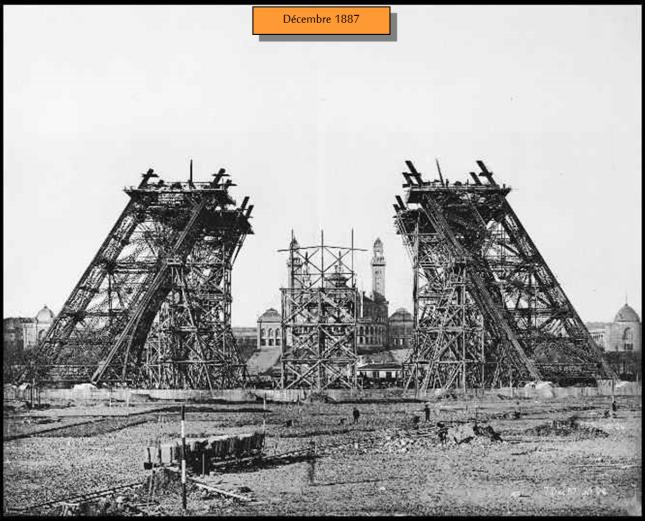 Torre Eiffel Construção - dezembro 1887