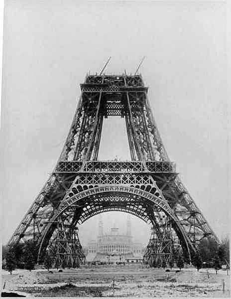 Torre Eiffel Construção - 2a. plataforma