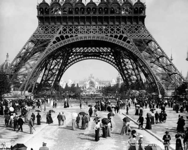 Torre Eiffel Construção - O Trocadero e os novos jardins - 1889