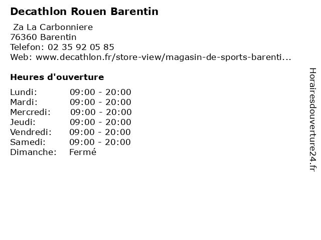 ouverture decathlon rouen barentin
