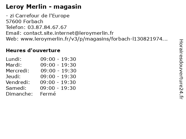 ouverture leroy merlin magasin