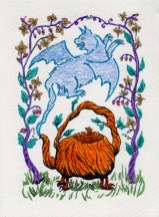 Blue Wing Cat Tea