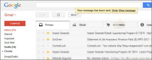 Gmail permite ya anular envios de correos