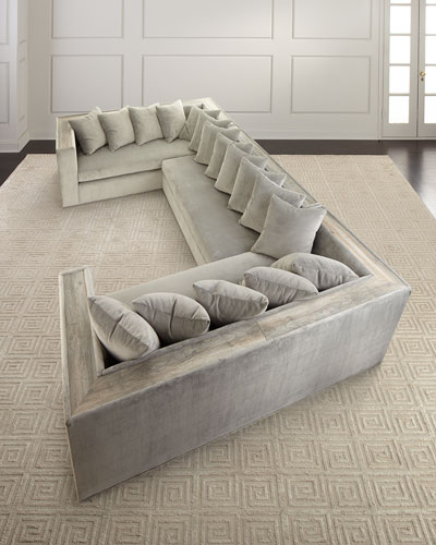 wooden sectional sofa horchow com