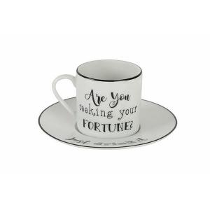 Porland Be Happy Tabaklı Kahve Fincanı 90 Cc Bardaklar