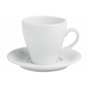Porland Bella Beyaz Tabaklı Çay Fincanı 220 Cc Bardaklar