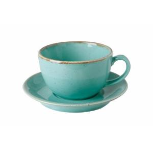 Porland Seasons Turkuaz Tabaklı Çay Fincanı 320 Cc Bardaklar
