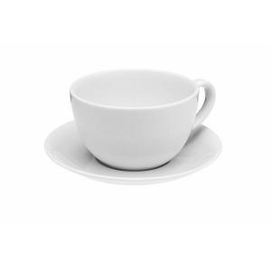 Porland Soley Beyaz Tabaklı Çay Fincanı 320 Cc Bardaklar