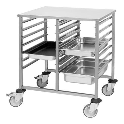 mobile food pan rack 7 17x 1 1 gn