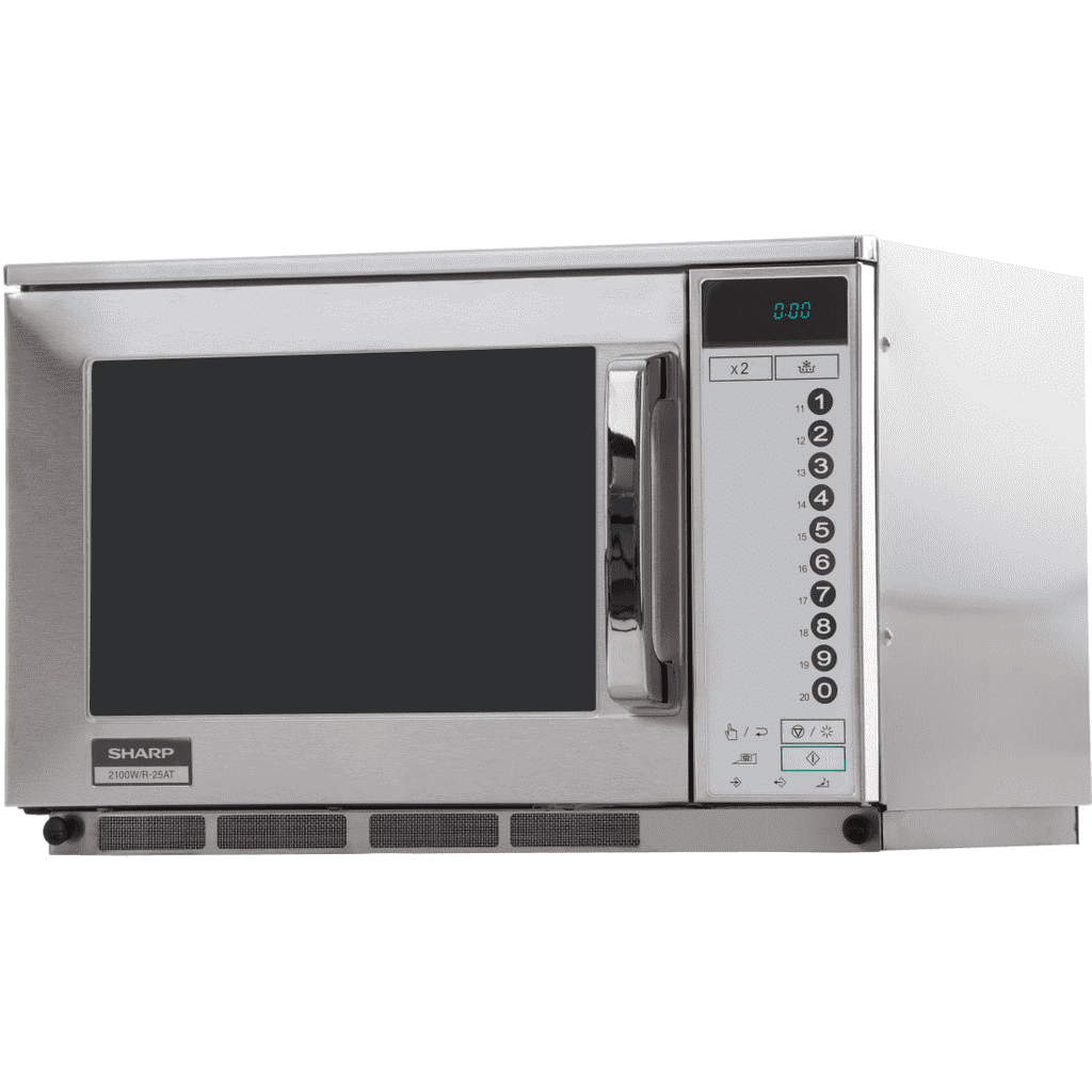 sharp microwave type r 25at 2100 w professional touch control