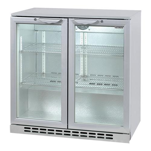Illustratie: foto van de 208 liter koelkast met 2 glazen deuren van Exquisit.