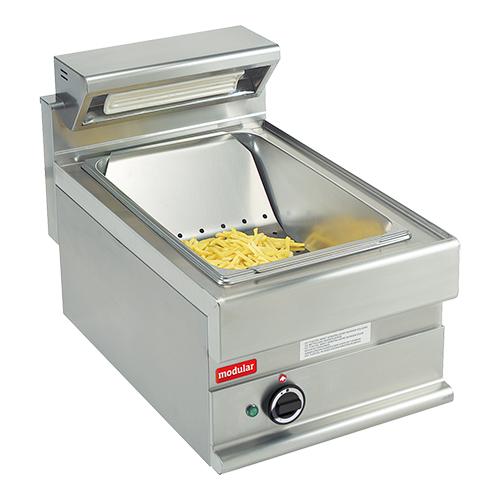 Illustratie: foto van het warmhoudapparaat voor patat frites van Modular uit de Professional S650-lijn.