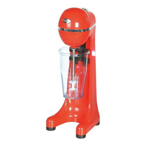 Illustratie: rode milkshaker van de Griekse fabrikant van horeca-apparatuur Johny.
