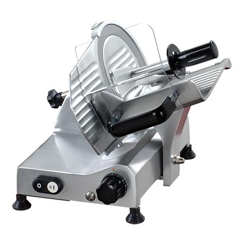 Illustratie: foto van de vleessnijmachine van Mach met 195 mm mes.