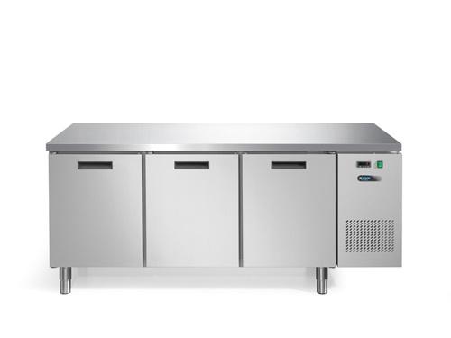 Afinox Koelwerkbank Fresh 3 deurs ''none fingerprint''