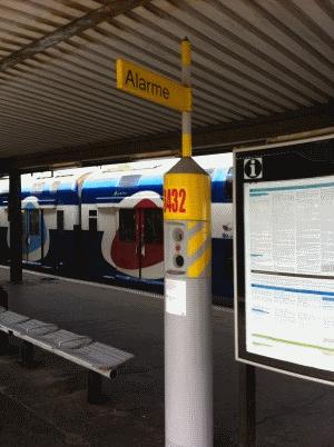 Borne d'appel SNCF