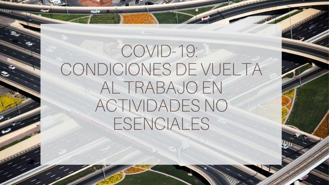 Covid19 Condiciones Vuelta al Trabajo