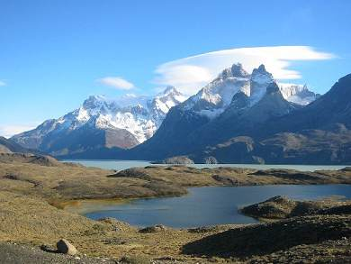 Torres del Paine Mountain Lake.