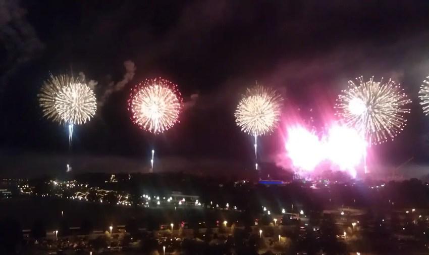Magic Kingdom Fireworks Indpendence Day