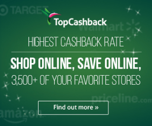 Earn cash back with TopCashBack