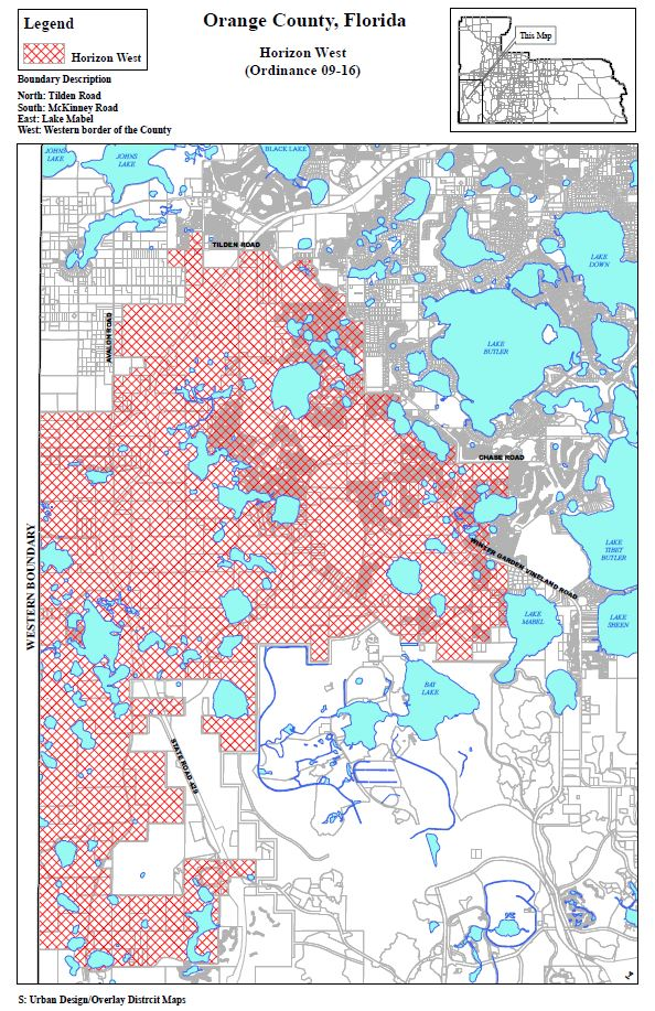 Map Western Florida.Horizon West Map Horizon West News Info
