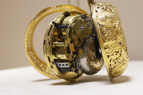 Coach watch with repetition and music by J Chauvel (movement) and John Dearmer I (case), London c1735