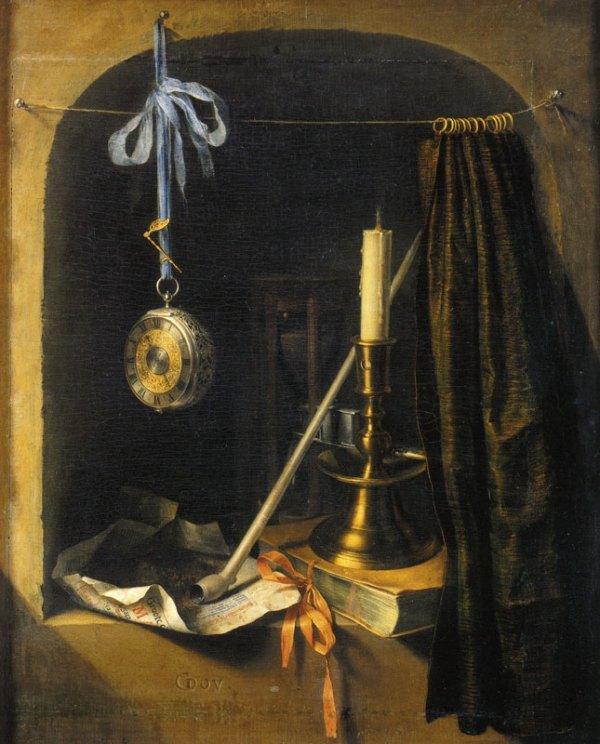 DOU GERARDNature morte à la bougie, vers 1660, SKD Gemäldegalerie Alte Meister Dresde