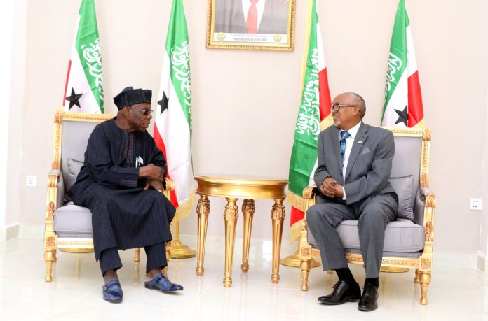 Former Nigerian President Arrives In Hargeisa For An Official Visit