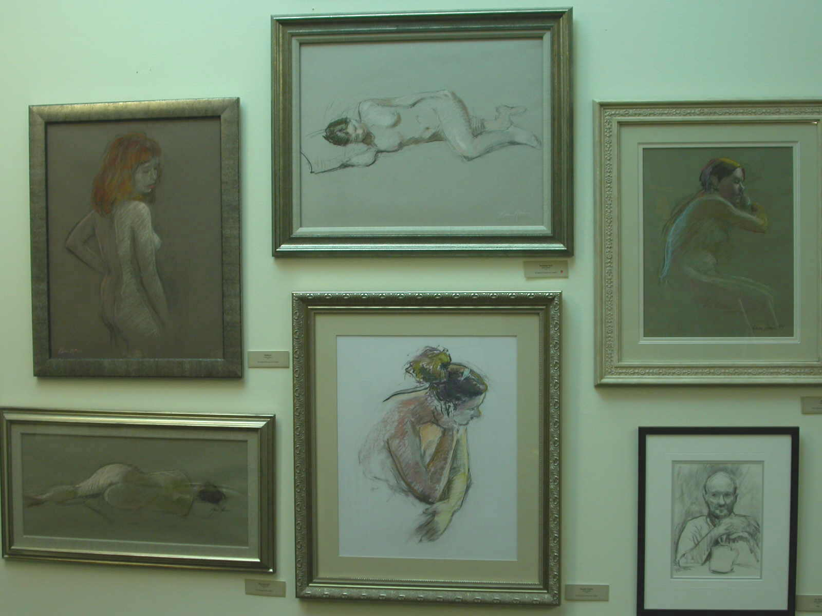 Karen Horne - Wall of figure drawings