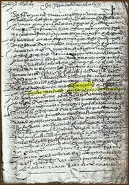 Escritura de compraventa de crisoles. Año 1584. Archivo Históricos Provincial de Zamora.