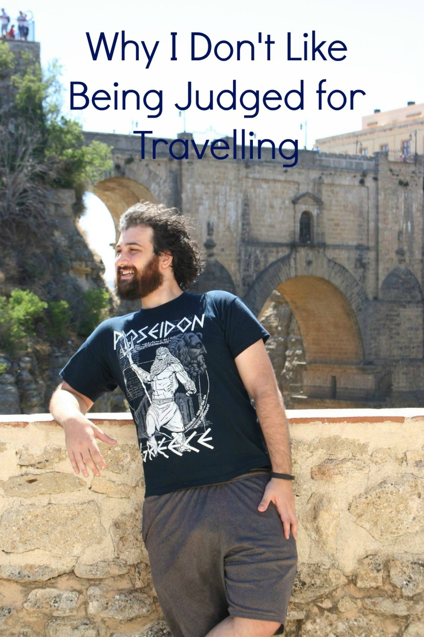 judging people for travelling