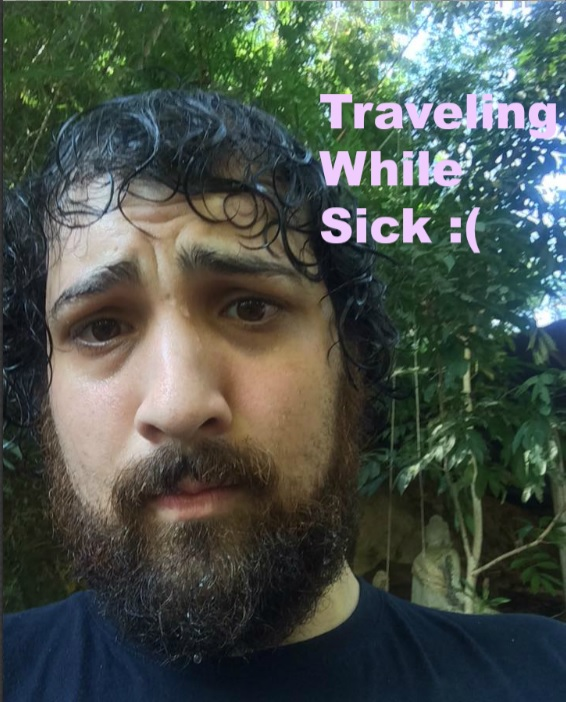 traveling while sick