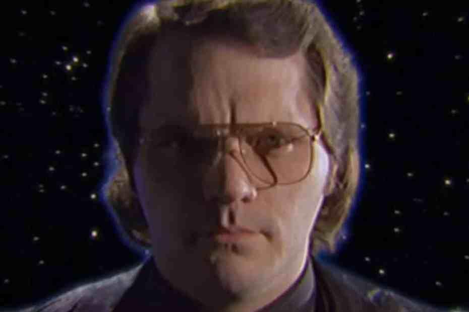 Garth Marenghi headshot from Garth Marenghi's Darkplace opening titles