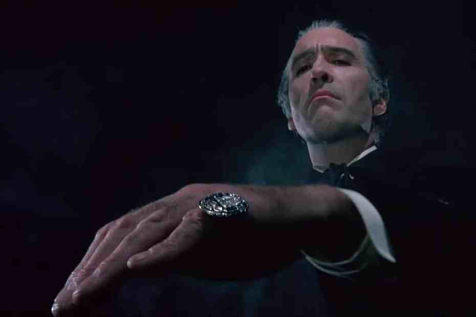 Christopher Lee as Count Dracula in Dracula A.D. 1972