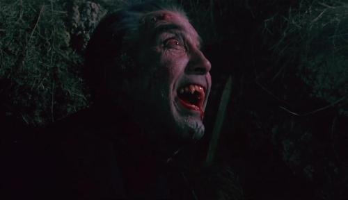 Christopher Lee as Dracula in Dracula AD 72