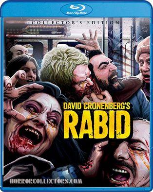 Rabid collectors edition scream factory blu ray front