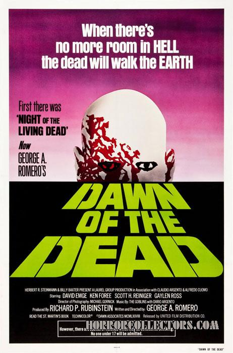 Dawn of the Dead Advance Green Logo One Sheet Poster